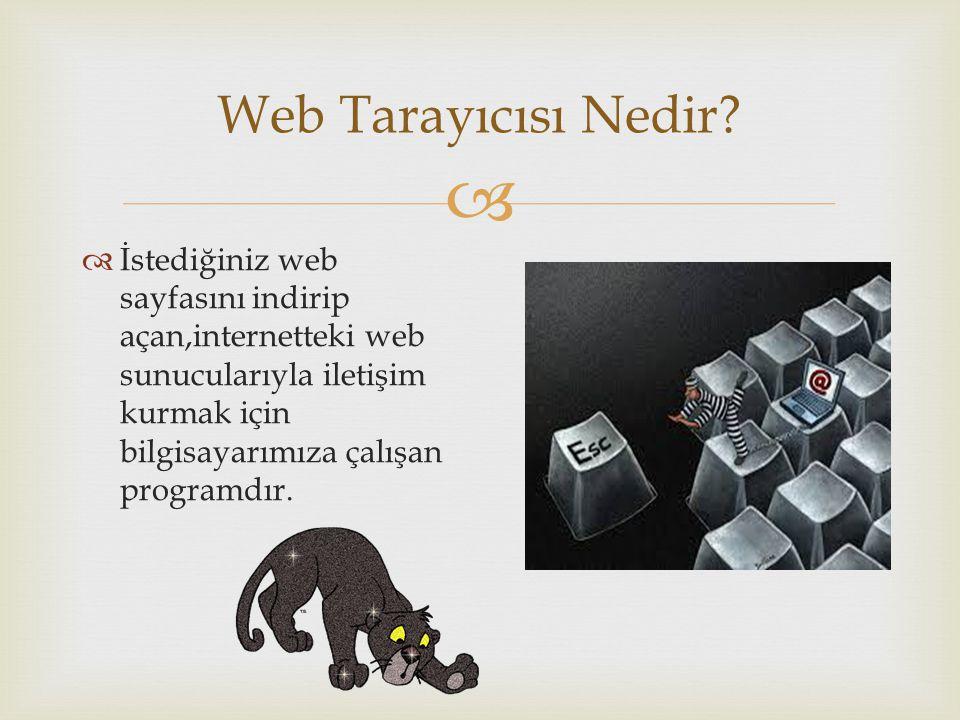 Web Tarayıcısı Nedir.