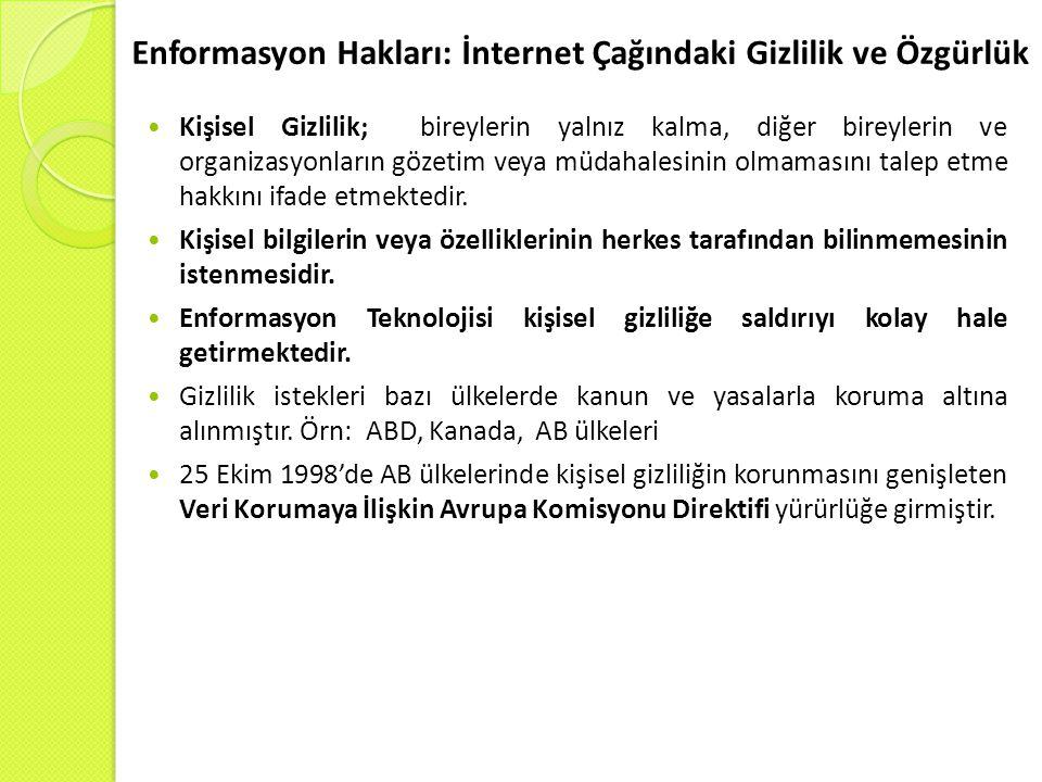 Enformasyon Hakları: İnternet Çağındaki Gizlilik ve Özgürlük