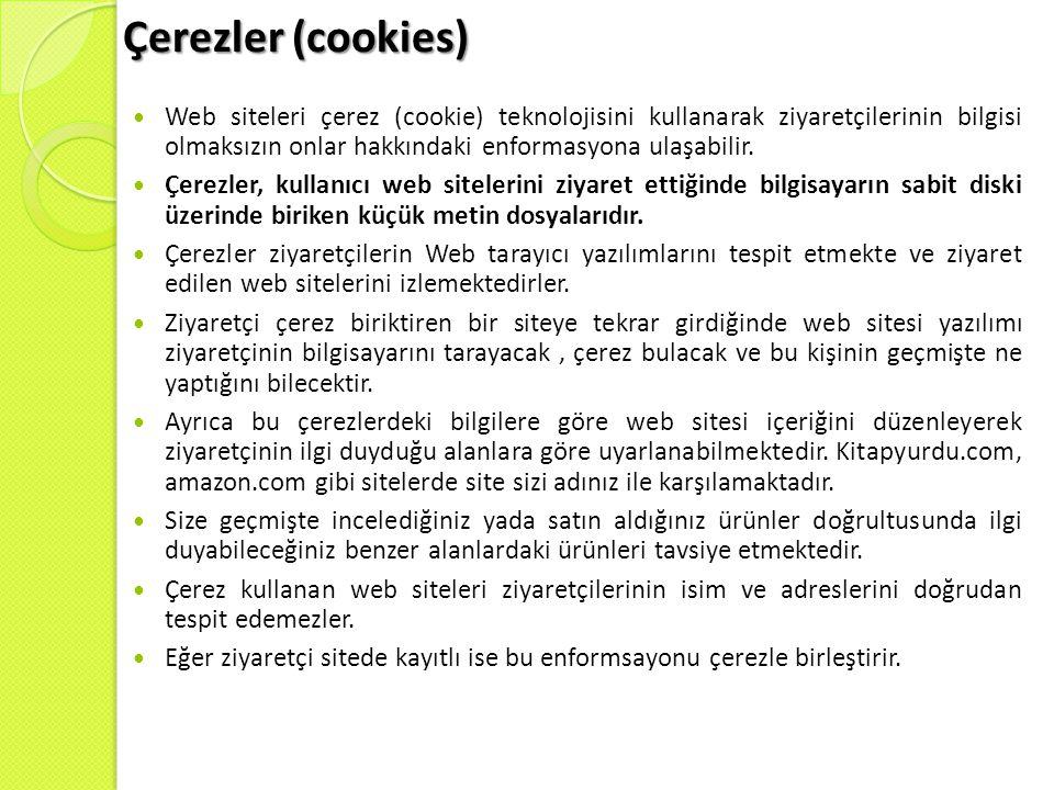 Çerezler (cookies)