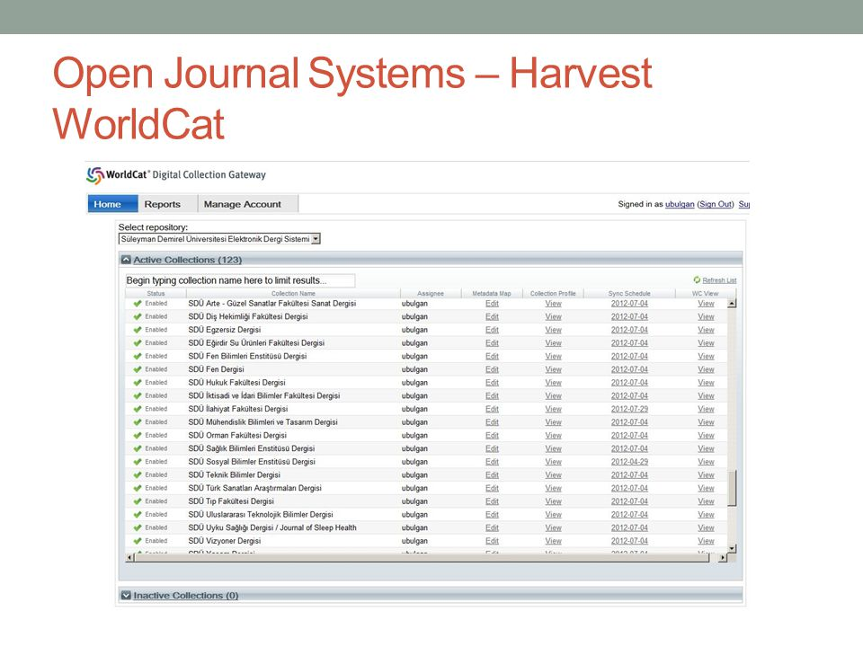 Open Journal Systems – Harvest WorldCat