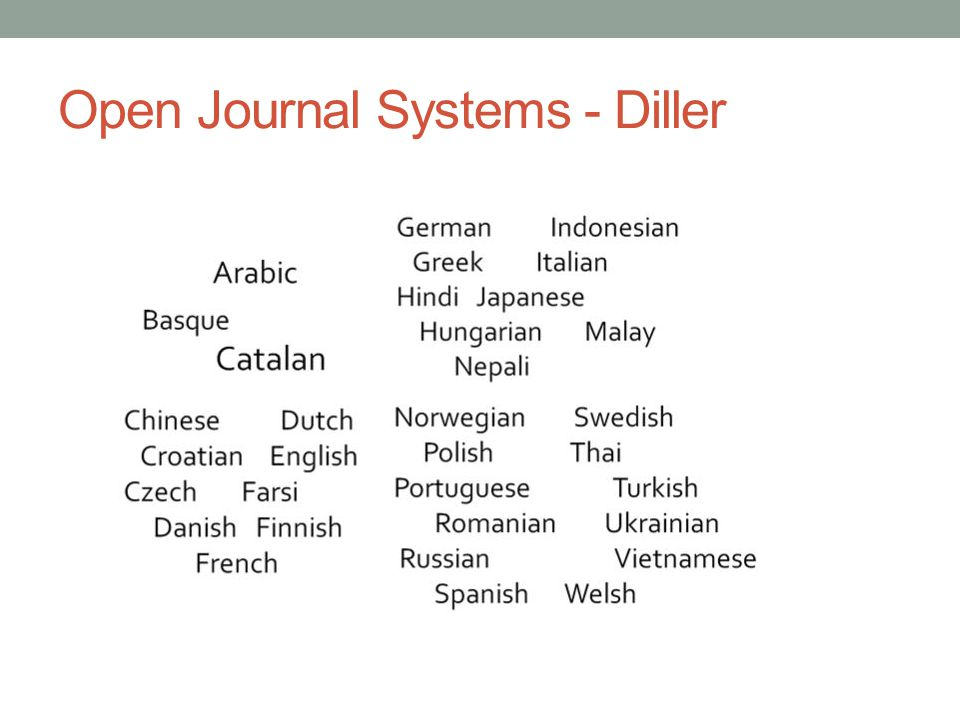 Open Journal Systems - Diller
