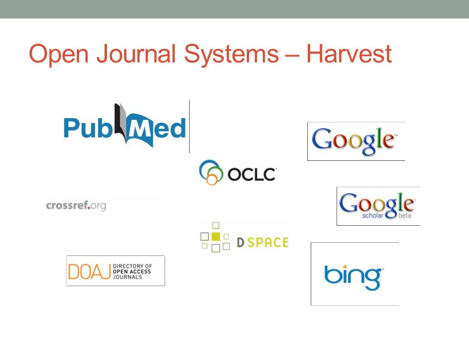 Open Journal Systems – Harvest