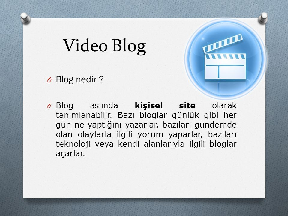 Video Blog Blog nedir