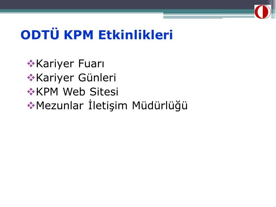 ODTÜ KPM Etkinlikleri Kariyer Fuarı Kariyer Günleri KPM Web Sitesi