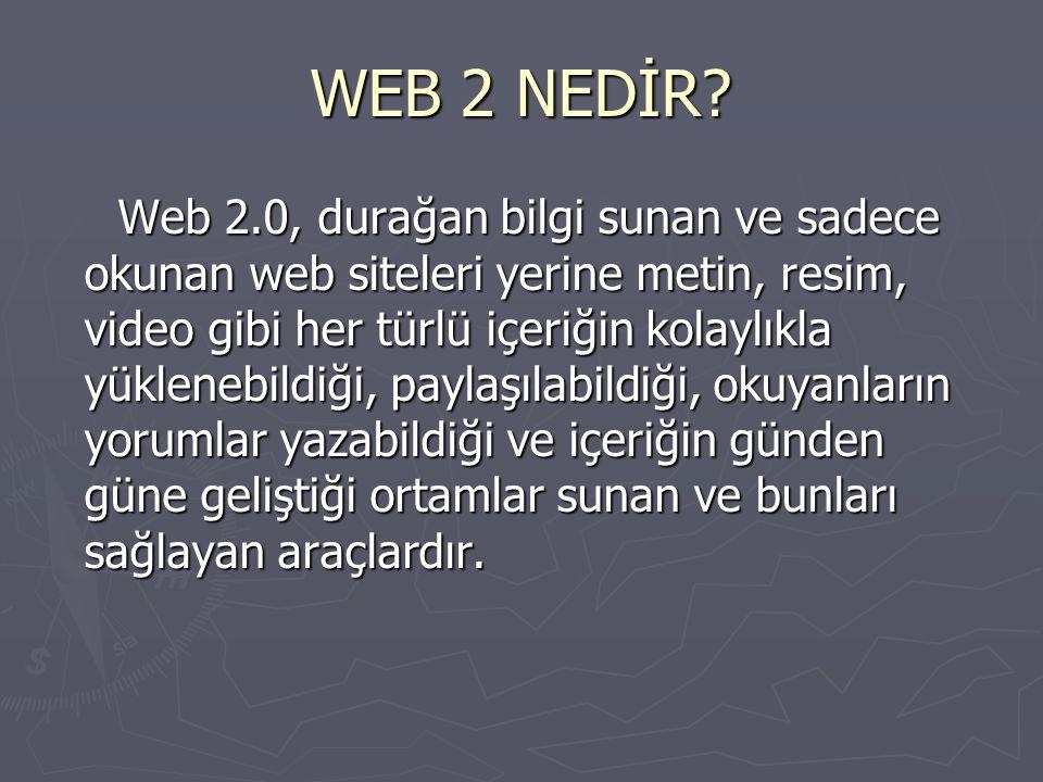 WEB 2 NEDİR