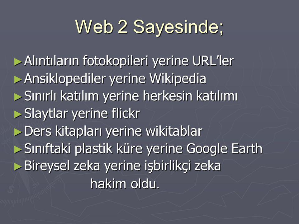 Web 2 Sayesinde; Alıntıların fotokopileri yerine URL'ler