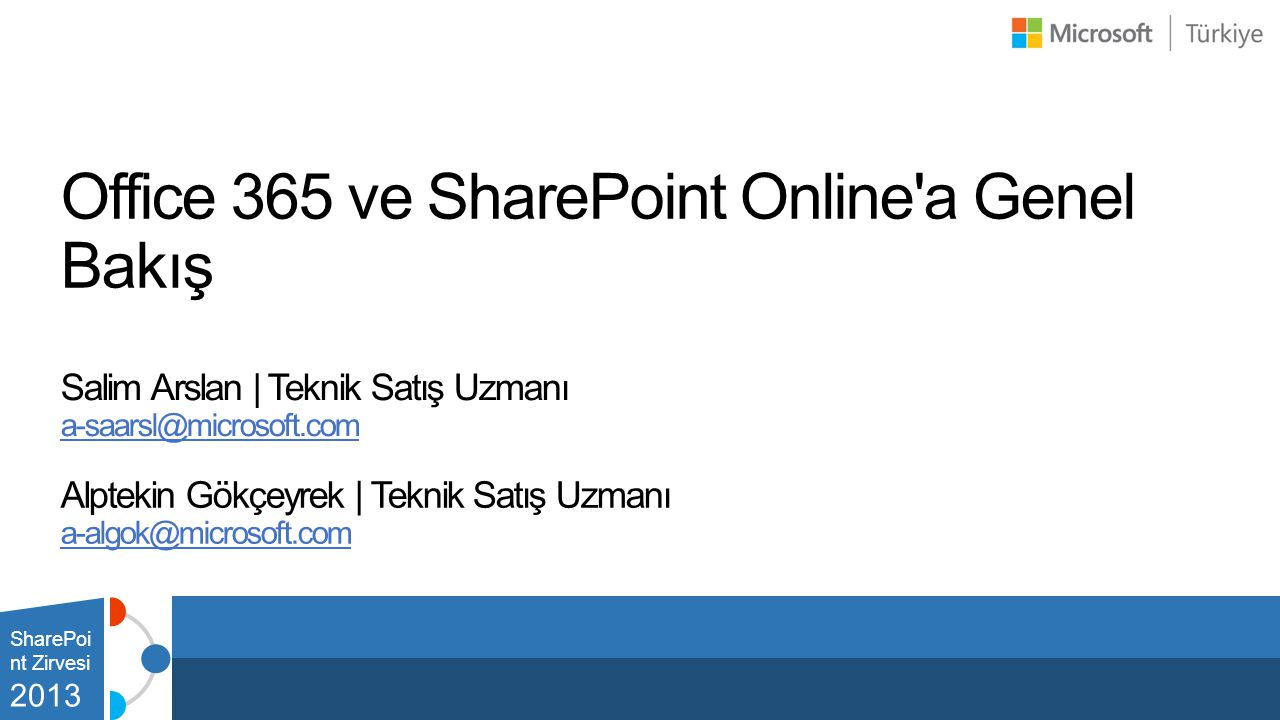 Office 365 ve SharePoint Online a Genel Bakış