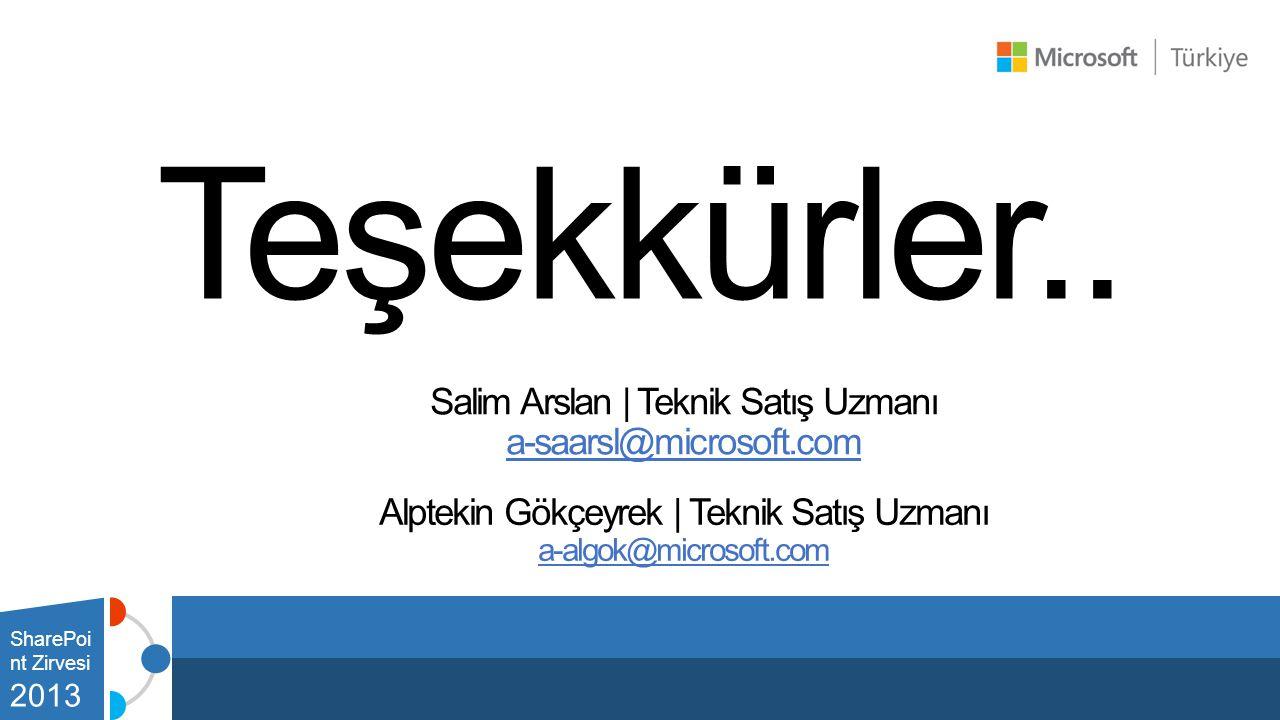 Teşekkürler.. Salim Arslan | Teknik Satış Uzmanı