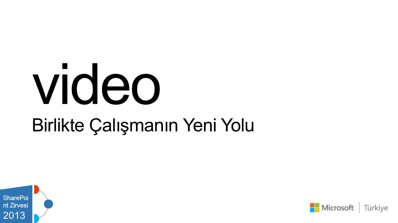 video Birlikte Çalışmanın Yeni Yolu SharePoint Zirvesi 2013