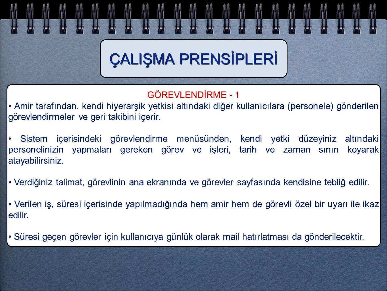 ÇALIŞMA PRENSİPLERİ GÖREVLENDİRME - 1