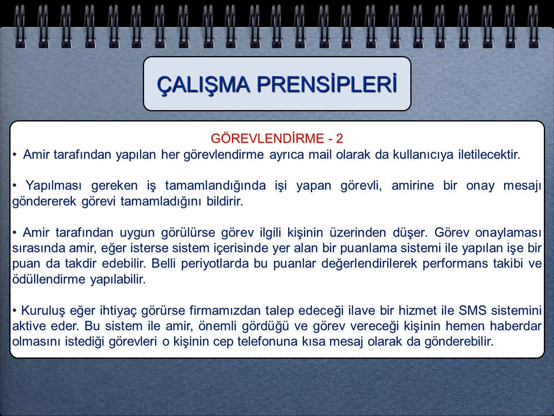 ÇALIŞMA PRENSİPLERİ GÖREVLENDİRME - 2