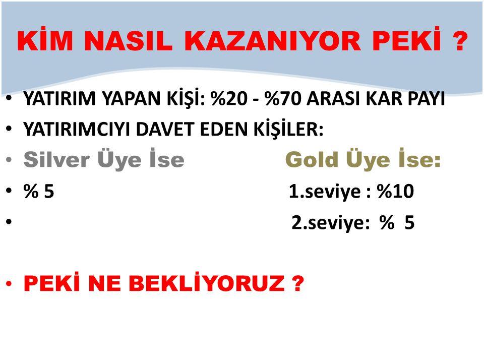 KİM NASIL KAZANIYOR PEKİ