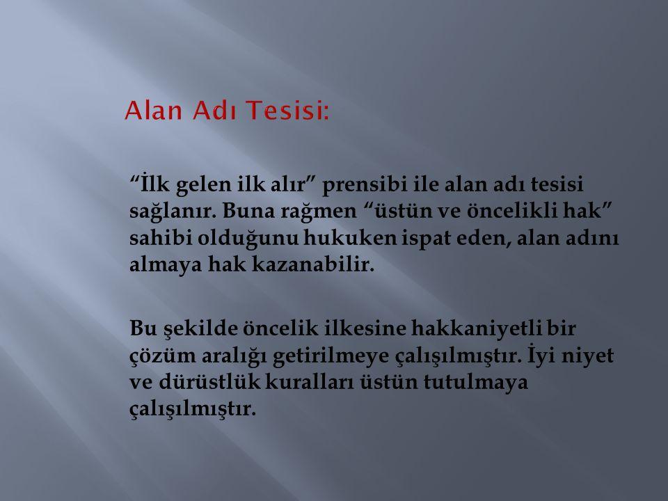 Alan Adı Tesisi: