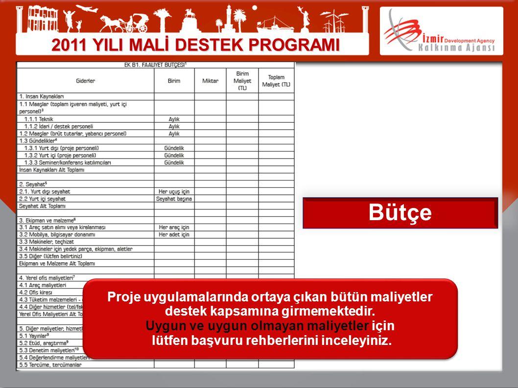 Bütçe 2011 YILI MALİ DESTEK PROGRAMI