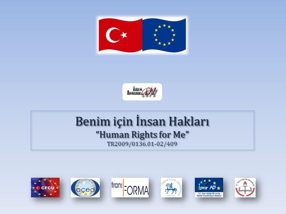 Benim için İnsan Hakları Human Rights for Me TR2009/0136.01-02/409