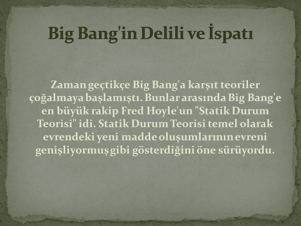 Big Bang in Delili ve İspatı
