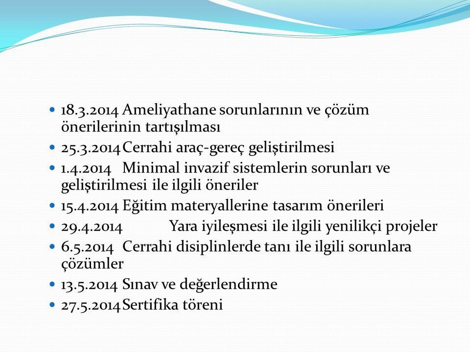 18.3.2014 Ameliyathane sorunlarının ve çözüm önerilerinin tartışılması
