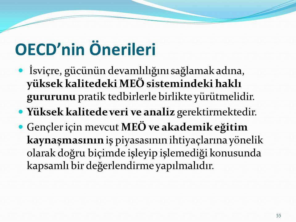 OECD'nin Önerileri