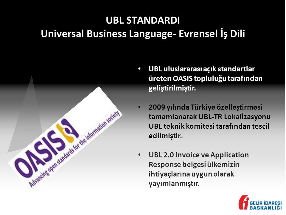 UBL STANDARDI Universal Business Language- Evrensel İş Dili