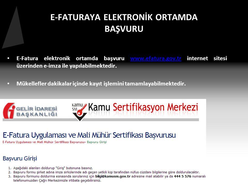 E-FATURAYA ELEKTRONİK ORTAMDA BAŞVURU