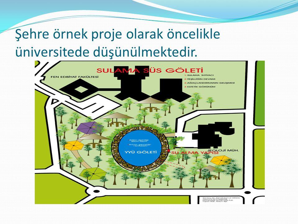 Şehre örnek proje olarak öncelikle üniversitede düşünülmektedir.