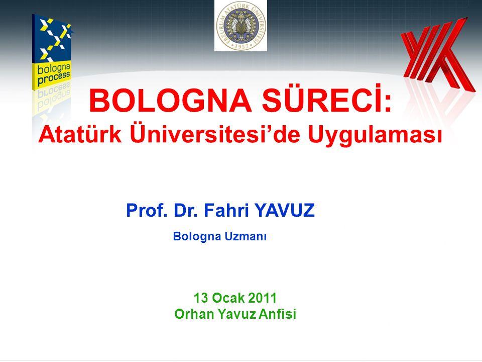 BOLOGNA SÜRECİ: Atatürk Üniversitesi'de Uygulaması