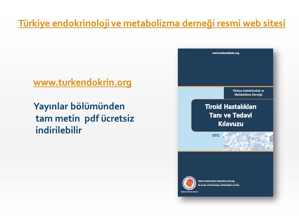 Türkiye endokrinoloji ve metabolizma derneği resmi web sitesi