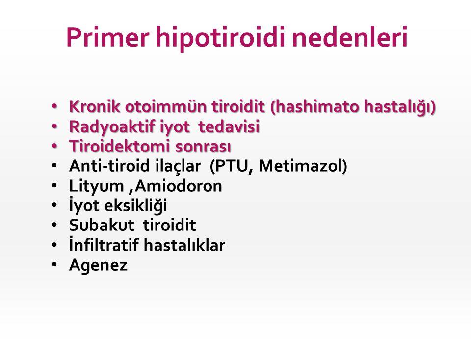 Primer hipotiroidi nedenleri