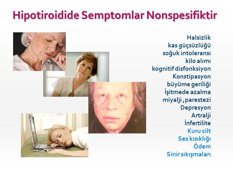 Hipotiroidide Semptomlar Nonspesifiktir