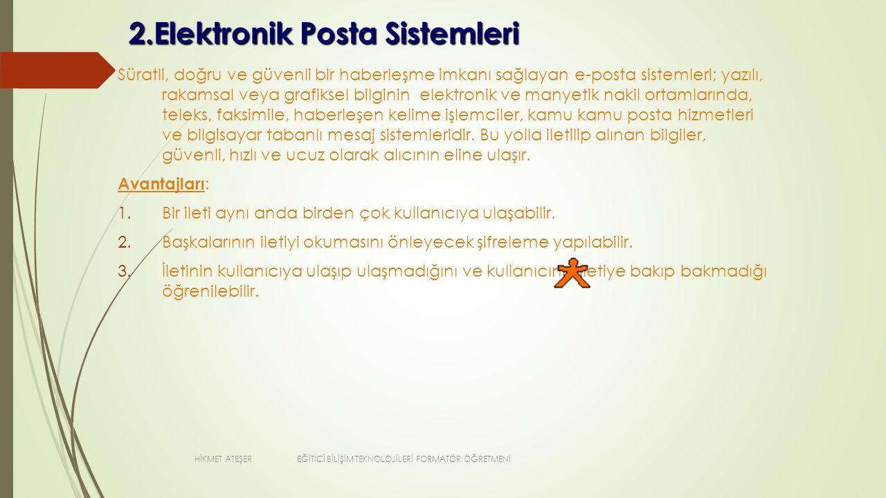 2.Elektronik Posta Sistemleri