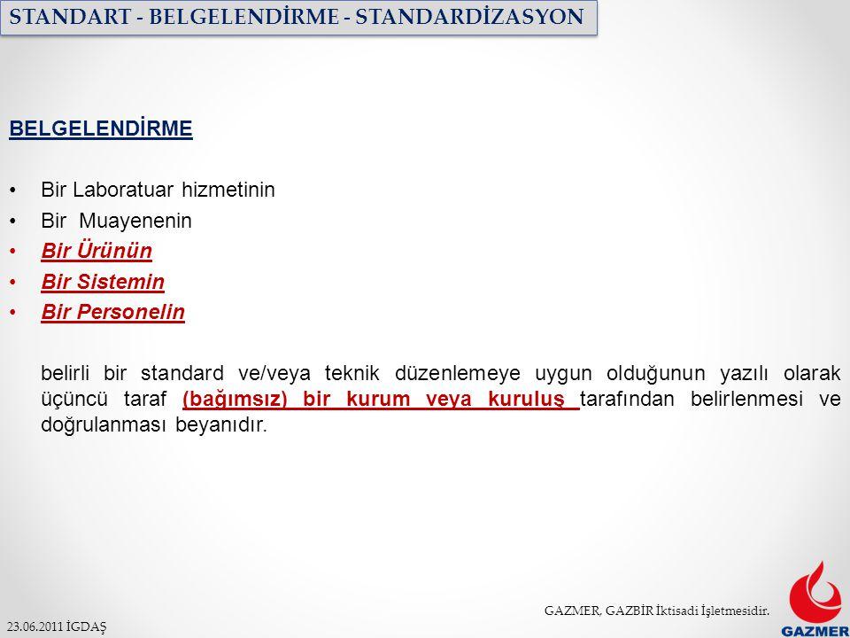 STANDART - BELGELENDİRME - STANDARDİZASYON