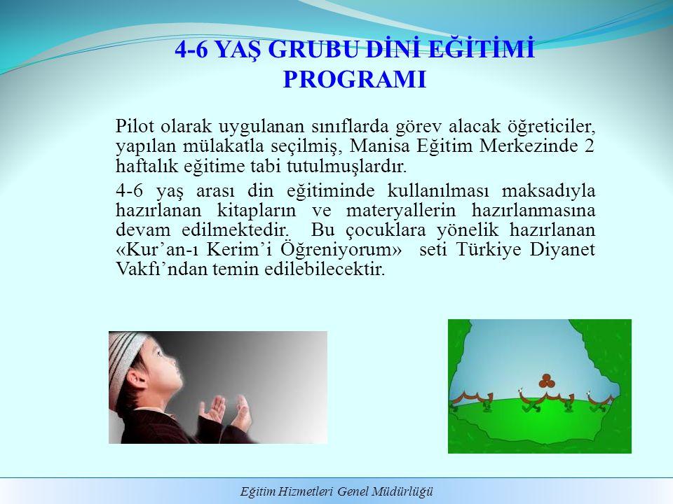 4-6 YAŞ GRUBU DİNİ EĞİTİMİ PROGRAMI