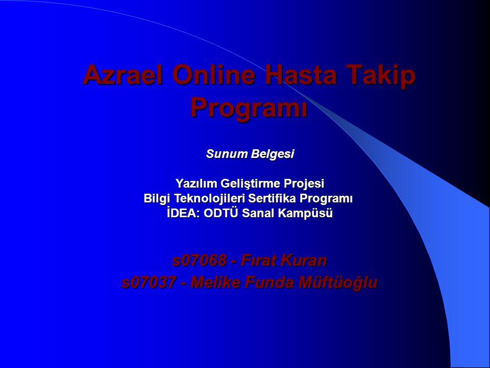 Azrael Online Hasta Takip Programı