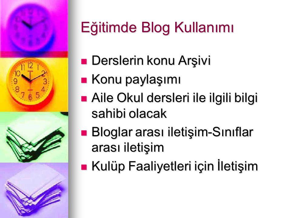Eğitimde Blog Kullanımı