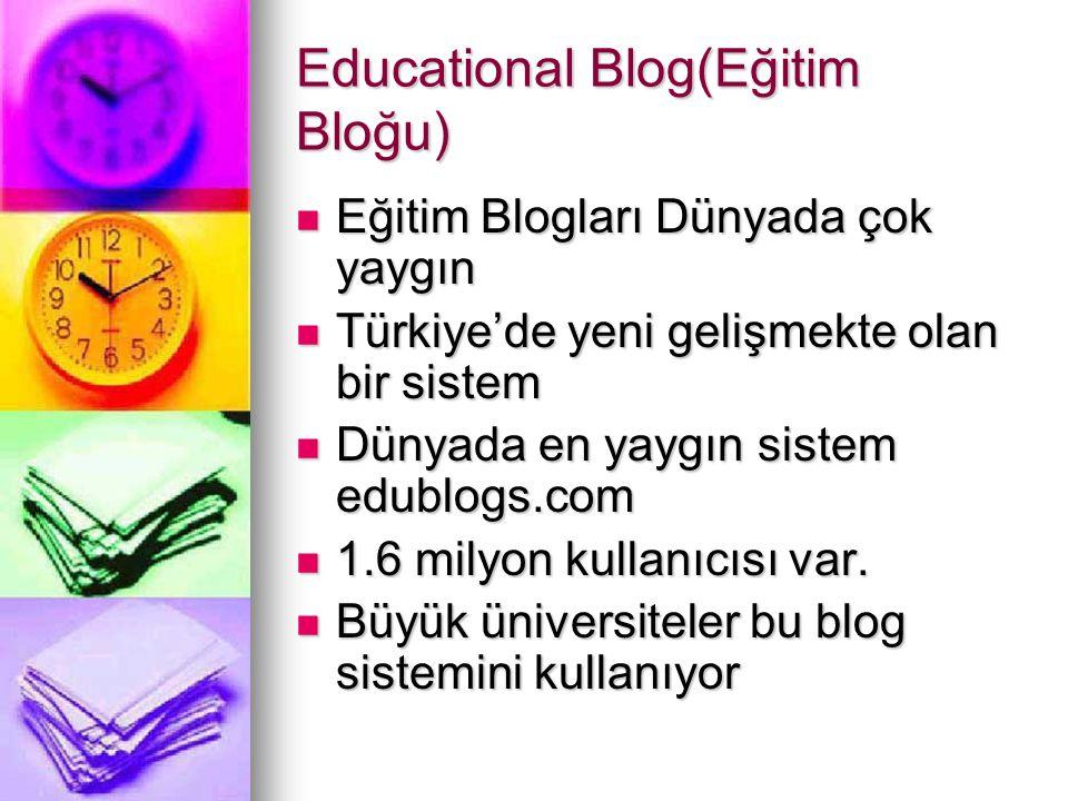 Educational Blog(Eğitim Bloğu)