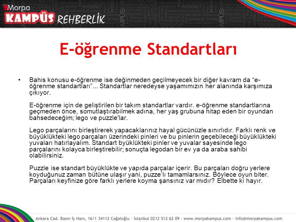 E-öğrenme Standartları