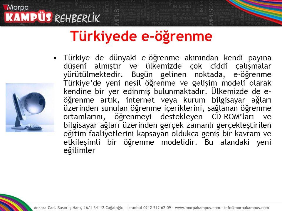 Türkiyede e-öğrenme