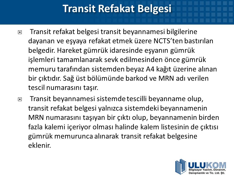Transit Refakat Belgesi