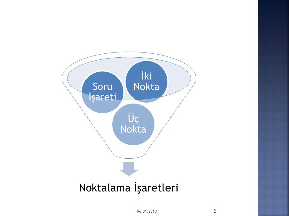 Noktalama İşaretleri Üç Nokta Soru İşareti İki Nokta 06.01.2013