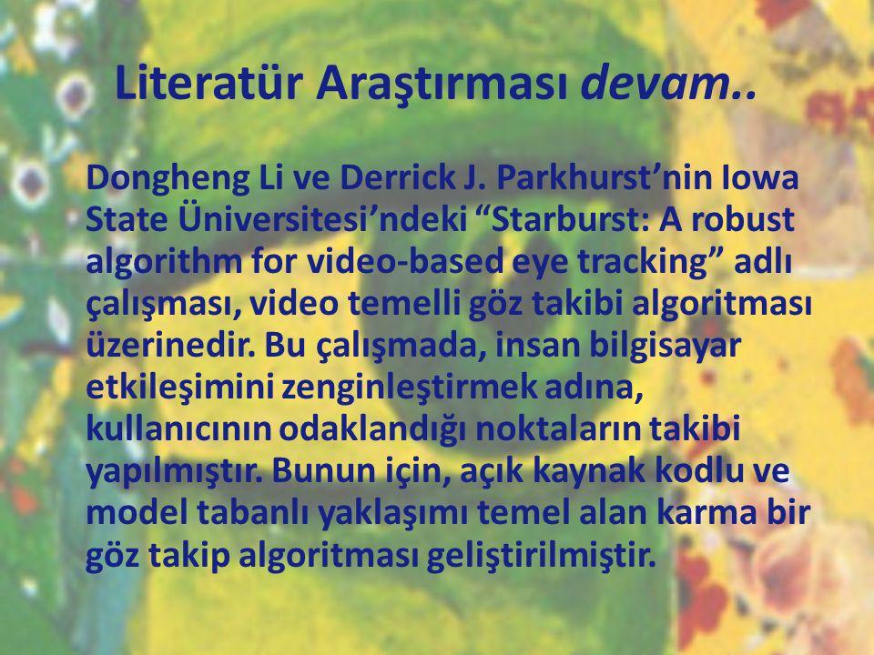 Literatür Araştırması devam..