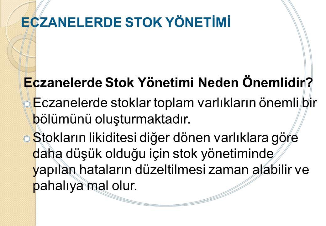 ECZANELERDE STOK YÖNETİMİ