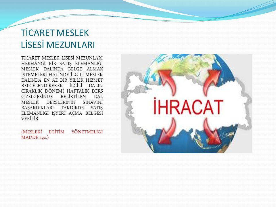 TİCARET MESLEK LİSESİ MEZUNLARI