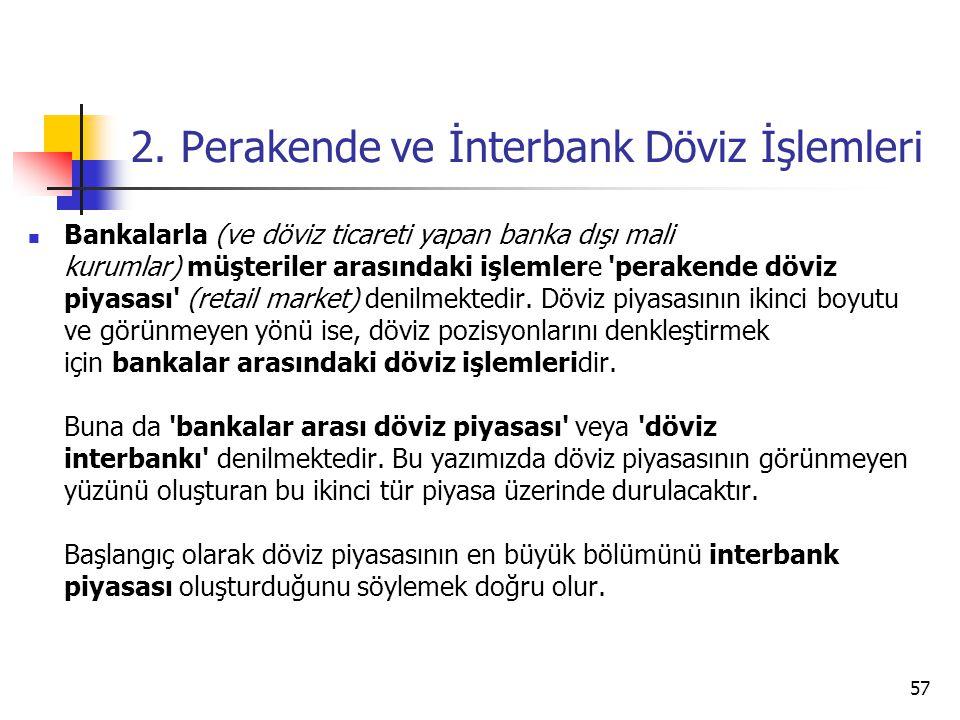 2. Perakende ve İnterbank Döviz İşlemleri