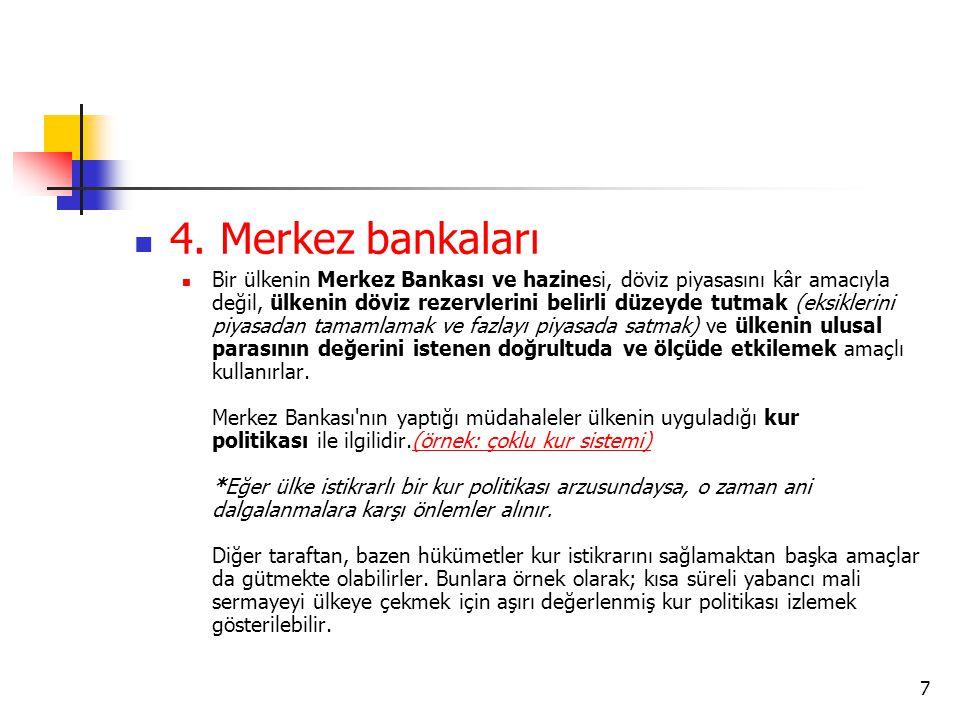 4. Merkez bankaları