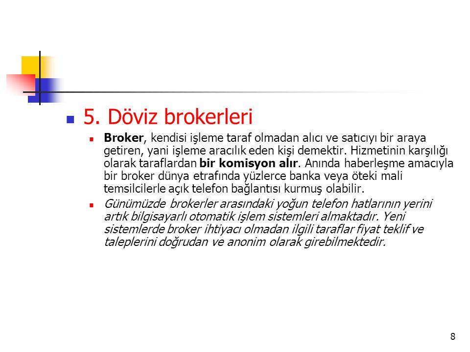5. Döviz brokerleri