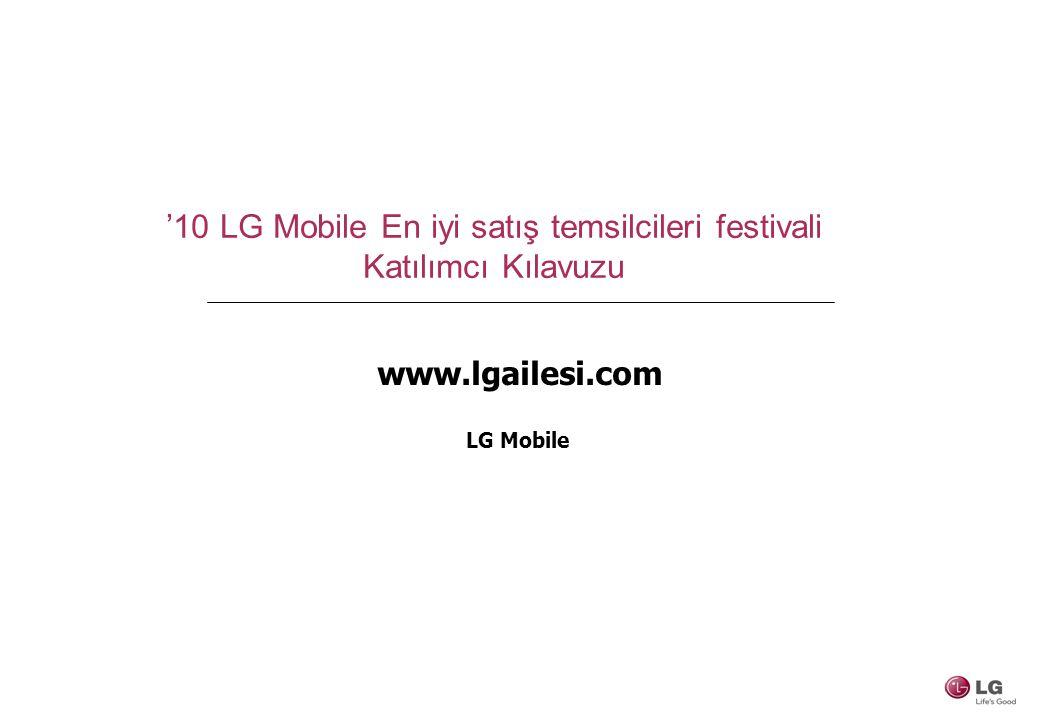 '10 LG Mobile En iyi satış temsilcileri festivali