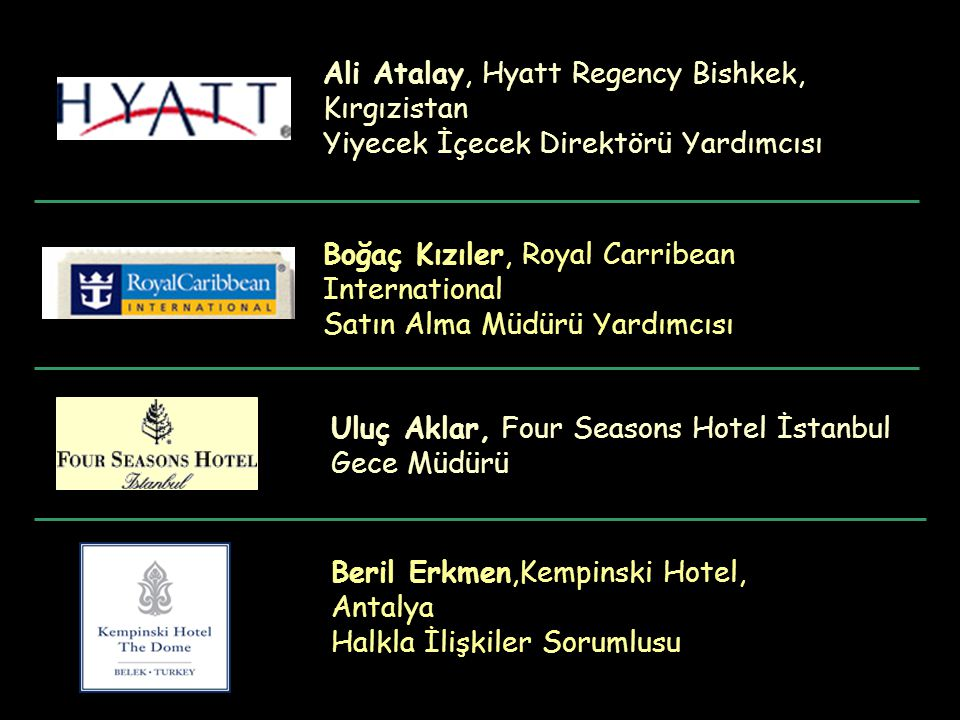 Ali Atalay, Hyatt Regency Bishkek, Kırgızistan