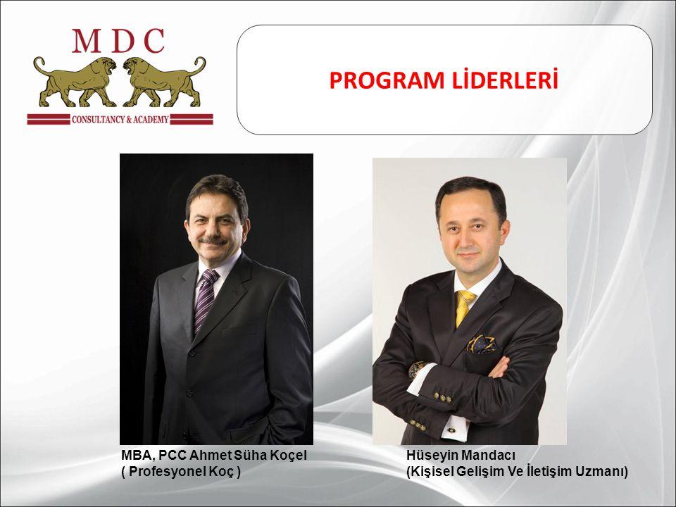 PROGRAM LİDERLERİ MBA, PCC Ahmet Süha Koçel Hüseyin Mandacı
