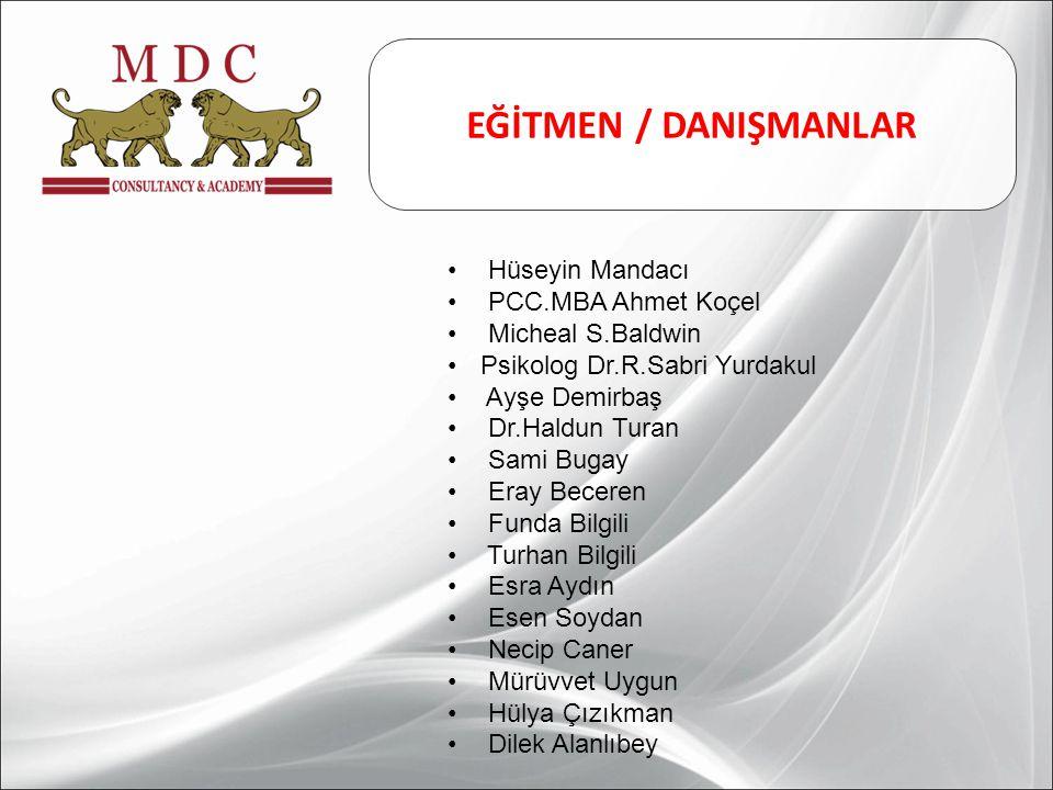 EĞİTMEN / DANIŞMANLAR Hüseyin Mandacı PCC.MBA Ahmet Koçel