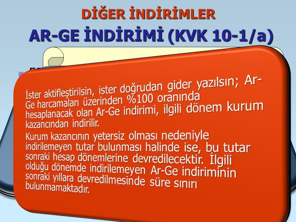 AR-GE İNDİRİMİ (KVK 10-1/a)